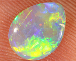 0.6ct 8.5x6.7mm Solid Lightning Ridge Crystal Opal [LO-2151]