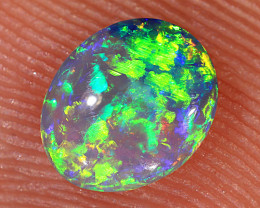 0.4ct 6.3x5.3mm Solid Lightning Ridge Crystal Opal [LO-2163]
