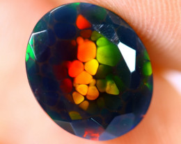 2.33cts Natural Ethiopian Welo Smoked Faceted Opal / BF1382