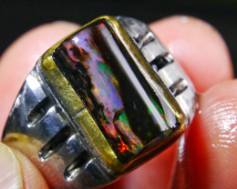 22.60 CT Uique Indonesian Wood Fossil Opal Jewelry RIng