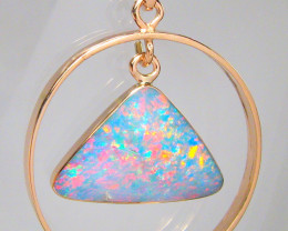 Australian Opal Pendant 14kt Rose Gold Jewelry 8.9ct Gift C58
