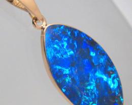 Australian Opal Pendant 6.05ct 14k Rose Gold Inlay Jewelry #C55