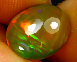 Welo Opal 1.47Ct Natural Ethiopian Play of Color Opal G3102/A44