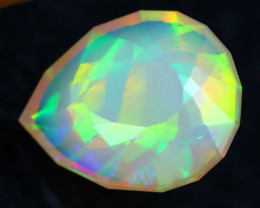 3.05Ct Master Piece of Designer Cut Natural Broad Fire Welo Opal H106