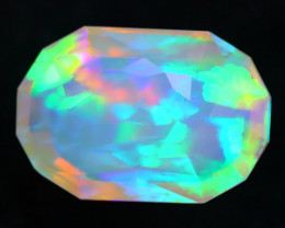 4.29Ct Master Piece of Designer Cut Natural Rolling Flash Welo Opal H108