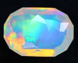 3.56Ct Master Piece of Designer Cut Natural Rainbow Aurora Welo Opal H109