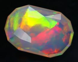 4.05Ct Master Piece of Designer Cut Natural Chaff Fire Welo Opal H111
