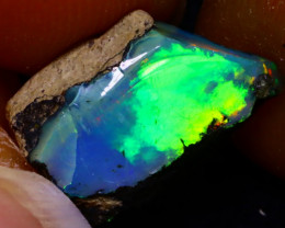3.55Ct Multi Color Play Ethiopian Welo Opal Rough F0121/R22