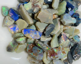 COLOURFUL CRYSTAL ROUGH OPALS**** #3618