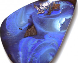 $2.20 PER CTS 56.75 CTS DRILLED BOULDER OPAL-WELL POLISHED [BMA9451]