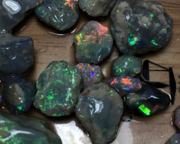 114.5cts Lightning Ridge Opal Select Rough Parcel 21 pieces