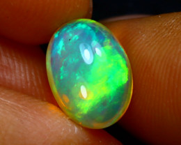 Welo Opal 1.80Ct Natural Ethiopian Play of Color Opal J0406/A44