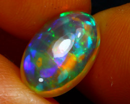Welo Opal 2.61Ct Natural Ethiopian Play of Color Opal J0409/A44