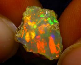 5.37Ct Multi Color Play Ethiopian Welo Opal Rough J0418/R2