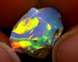 3.71Ct Multi Color Play Ethiopian Welo Opal Rough J0420/R2
