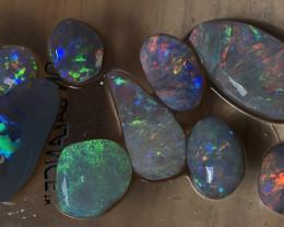 30cts Lightning Ridge Opal Rubs Parcel 12 pcs