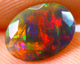 0.86cts Natural Ethiopian Smoked Faceted Black Opal / BF1448