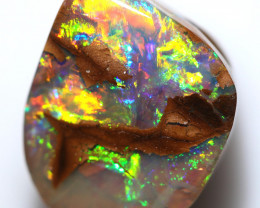$15.70 PER CTS 11.15 CTS DRILLED BOULDER OPAL-WELL POLISHED [BMA9475]