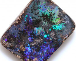 $ 3.71 PER CTS 22.90 CTS DRILLED BOULDER OPAL-WELL POLISHED [BMA9502]