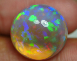 14.34 CRT CRYSTAL ROUND MICRO FLORAL PATTERN WELO OPAL-