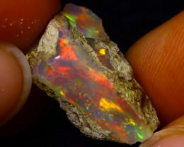 8.65Multi Color Play Ethiopian Welo Opal Rough J0813/R2