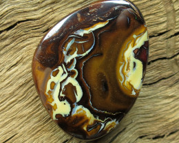 67cts, YOWAH OPAL~SOLID PATTERN IRONSTONE.