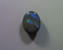 5.25ct Solid Lightning Ridge dark opal, multiple gem fire