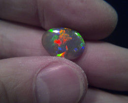2.8ct Lightning Ridge dark crystal opal for collectors, super gem!!