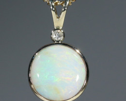 Boulder  Opal  and Diamond Gold Pendant Code -GPA146