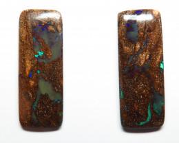 36.12ct Queensland Boulder Opal Pair Stone