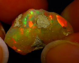 7.20Ct Multi Color Play Ethiopian Welo Opal Rough F1108/R2