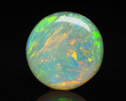 Lightning Ridge Semi-Black Opal, round ring stone, 0.77 ct