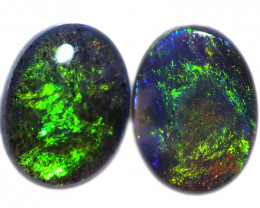 0.76 CTS BLACK OPAL PAIR FROM LIGHTNING RIDGE  [LRO1092]
