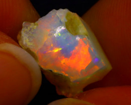 3.38Ct Multi Color Play Ethiopian Welo Opal Rough J1217/R2