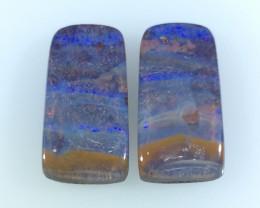 26.73 CTS Boulder Opal Gemstone Pair