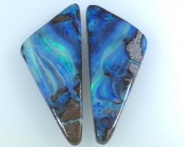 51.87 CTS Boulder Opal Gemstone Pair