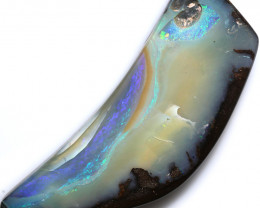 $1.48 PER CTS 88.00 CTS DRILLED BOULDER OPAL-WELL POLISHED [FJP3379]