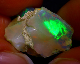 8.41Ct Multi Color Play Ethiopian Welo Opal Rough J1403/R2