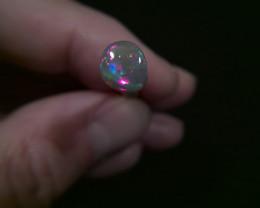 0.65ct Solid Lightning Ridge Black opal, multiple gem fire