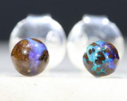 Australian Boulder Opal Matrix Silver Earring Studs Code-SE532