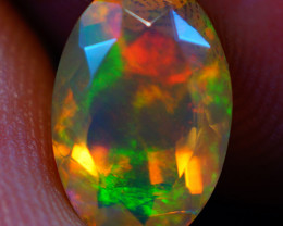 1.12 CT Top Quality Natural Welo Faceted Ethiopian Opal-GE256