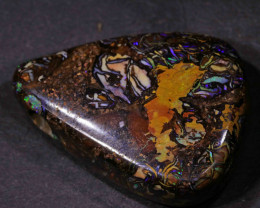 NICE BOULDER OPAL FROM WINTON AREA-SIDE DRILLED