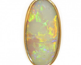 18K GOLD COOBER PEDY OPAL PENDANT WITH DIAMOND [CP136]