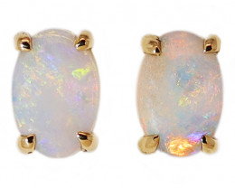 14K GOLD COOBER PEDY OPAL PIERCE EARRINGS [CE17]