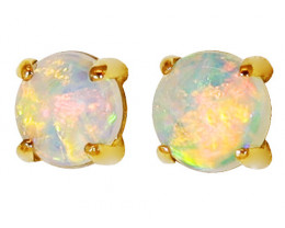 18K GOLD COOBER PEDY OPAL  PIERCE EARRINGS [CE18]