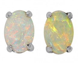 14K GOLD COOBER PEDY OPAL PIERCE EARRINGS [CE21]