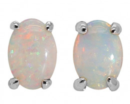 14K GOLD COOBER PEDY OPAL PIERCE EARRINGS [CE20]