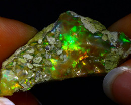 25.84Ct Multi Color Play Ethiopian Welo Opal Rough JR19/R3