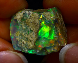 27.74Ct Multi Color Play Ethiopian Welo Opal Rough JR20/R3