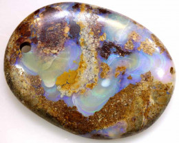 25 CTS BOULDER  PIPE OPAL PENDANT DRILLED NC-7178